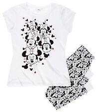 Minnie Mouse Schlafanzug T-Shirt Leggings weiß Gr. XL 46 Kinder 182