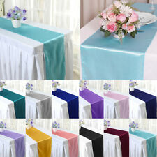 """5 10 20 x 12""""x108"""" Table Runner Satin Wedding Party Banquet Decoration Runners"""