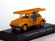 1:43 Altaya VW Fusca (Käfer) Telesp Telefonia yellow/blue