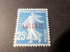 ALGERIE FRANCAISE 1924, VARIETE' ANNEAU LUNE timbre 14, SEMEUSE neuf*, MH STAMP