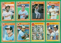 1985 FLEER BALTIMORE ORIOLES TEAM SET NMMT  MURRAY  DEMPSEY  CAL RIPKEN x3