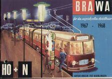 catalogo BRAWA EHEIM 1966 Trolleybus HO N + Blatt Autobahn Leuchten 1:24-32 D aa