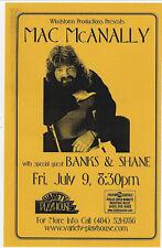 MAC McANALLY Concert Handbill / ATLANTA Variety Playhouse  July 9, 1999 !!