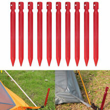 6 Pcs Plastic Outdoor Camping Trip Tent Pegs Ground Nail Stakes Garden 18cm New
