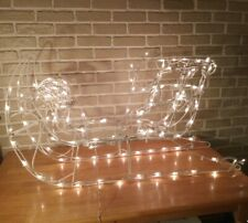 Holiday Christmas Santa Sleigh 42 Inches Indoor/Outdoor with Lights Vintage