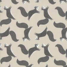 Moda Fabric Bramble Novelty Squirrels Grey - Per 1/4 Metre