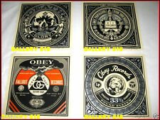 "SHEPARD FAIREY 50 SHADES OF BLACK FOUR PRINT 7 INCH"" SET RECORD MUSIC OBEY GIANT"