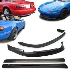 3x Combo 90-97 Mazda Miata MX5 GV Front + RS Rear + FD Side Skirts PU Bumper Lip