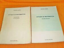 vincenzo aversa appunti di matematica volumi 1° e 2° liguori 1983-84