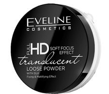 EVELINE FULL HD SOFT FOCUS EFFECT TRANSLUCENT WHITE LOOSE POWDER WITH SILK