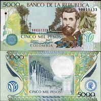 Colombia 5000 UNC 5,000 Pesos P-435a 1987