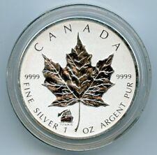 2012 CANADA 1 OZ SILVER REV. PROOF MAPLE LEAF-TITANIC PRIVY S$5 W/CAPSULE!