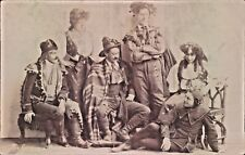 More details for postcard amateur dramatic cast of the gypsies & their jester 1907 rp