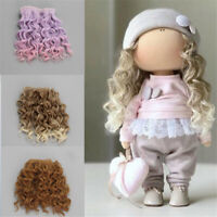 15*100cm High-Temperature 1/6 1/4 1/3  Screw Periwig Curly Wigs Doll Hair DIY
