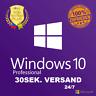 Windows 10 Professional ✅ Win 10 Pro ✅ 32/64BIT ✅ Lizenzschlüssel ✅ BLITZVERSAND