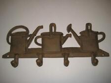 Cast Iron Watering Can Wall Art Coat Hat Robe Hook Rack Home Indoor / Outdoor