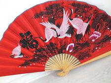 Chinese XL 110 CM BIANCO gru Uccello Rosso Muro Ventilatore CASA NEGOZIO RISTORANTE partito A2
