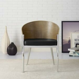 Cooper Dining Armchair, Silver - bent plywood mcm free shipping in USA