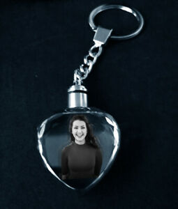 Gift for her Laser Engraved Personalised Keyring - any image, text or logo