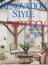 RENOVATION STYLE MAGAZINE NOVEMBER 2001 *HARMONY*
