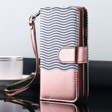 FR iPhone X 8 6s 7 Plus Luxury Wallet Case Flip Leather Removable Magnetic Cover for iPhone 6 6s Blue