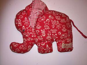 Sigikid Elefant rot weiß 17 cm lang 11 cm breit