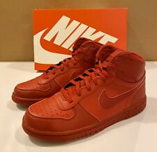 Nike Big High 336608-660 Red Athletic Basketball High-Tops Men's US 11.5