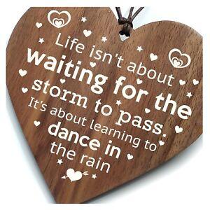 Dancing In The Rain - Inspirational Best Friends Wooden Plaque Gift