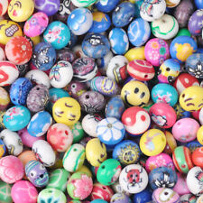 50pcs 12x8mm Rondelle Polymer Clay Loose Beads lot Assorted Patterns & Colors