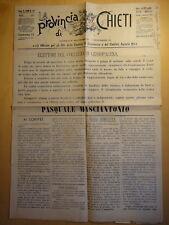 1900-LA PROVINCIA DI CHIETI-GIORNALE-GESSOPALENA-PASQUALE MASCIANTONIO