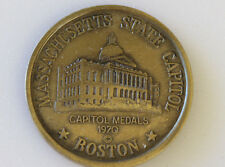 1970 Boston Massachusetts Bronze Medal Capitol Medals States of the Union D5642