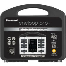 Panasonic eneloop Pro Charger with 8 AA and 2 AAA Batteries & Case Set