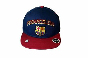 FC Barcelona Kid's Youth Snapback Hat Cap All Navy/Yellow soccer YOUTH SIZE