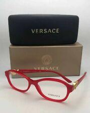 New VERSACE Eyeglasses MOD.3185 938 54-16 140 Red & Gold Frame w/ Medusa Logos