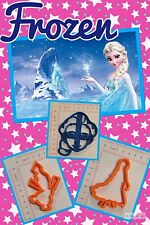 3pcs Frozen Olaf Anna Elsa Biscuit Cookie Cutter Fondant Cake Decorating Mold