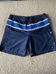 OP Men's Large 36-38 Board Shorts Swim Trunks Navy Blue