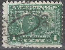 USA Scott #  401  1 Cent Balboa  Perf 10 Green Used (401-3)