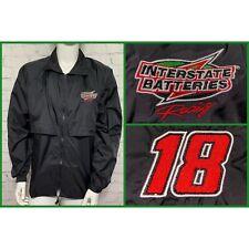 Kyle Busch Jacket Mens Medium Windbreaker Jacket Interstate Batteries #18