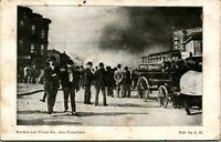 Vtg Postcard Market & Front Streets San Francisco CA During 1906 Fire UDB
