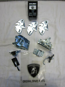 Lamborghini Countach Door hood lock latch package set release + interior levers