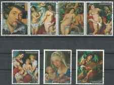 Timbres Arts Tableaux Paraguay 1599/1603 PA790/1 o lot 28023