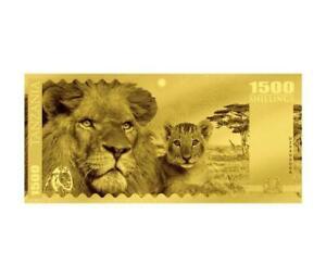 2018 Tanzania Big 5 - Lion Foil Note