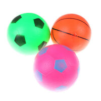12cm Inflatable Basketball Football Blow Up Ball Kids Sports Outdoor Play Toy ST