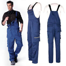 Mens One-piece Boilersuit Jumpsuit Work Rompers Multi-pocket Coveralls Overall