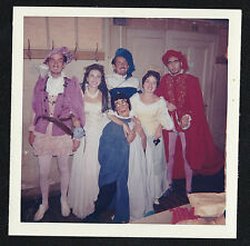 Vintage Photograph Group of People Wearing Costumes on Halloween