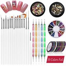 Nail Art supplies,30 Striping tape & 15pcs nail art Brushes Set,5pcs Dotting Pen