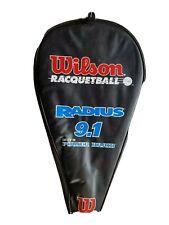 Wilson 9.1 Radius Racquetball with Power Braid Racquet W/ Case