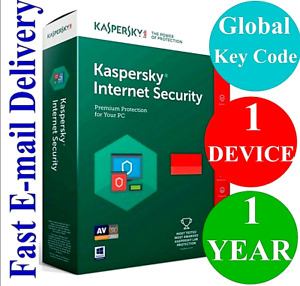 NEW KASPERSKY INTERNET SECURITY 2021 1 PC 1 YEAR GLOBAL