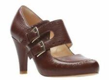 Clarks Ladies Mary Jane Shoes DALIA VIOLET Tan Leather UK 5.5 / 39