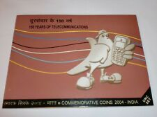 "- INDIA - 2 COIN UNC. SET - "" 150 YEARS OF TELECOMMUNICATIONS ""- 2004 -RS.100+2"